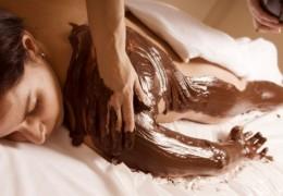 Massagens com chocolate