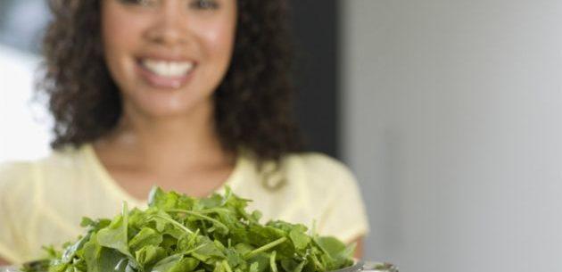 Propriedades das verduras de folha verde