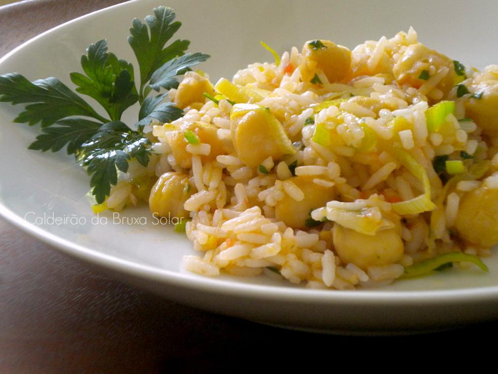 Grão de bico com arroz para emagrecer