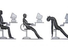Má postura também afeta a atividade mental
