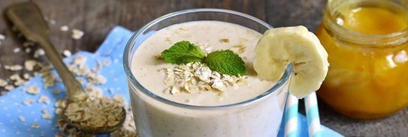 Smoothie de aveia e banana para baixar o colesterol alto