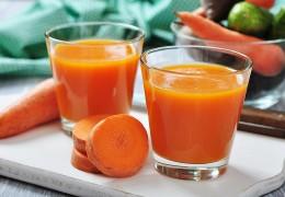 Suco de cenoura e limão para emagrecer