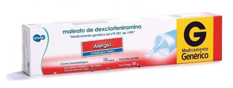 Indicações e efeitos colaterais do Maleato de Dexclorfeniramina